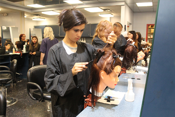 A Cosmetology student