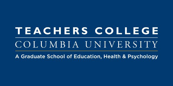 Teachers College Columbia University logo blue