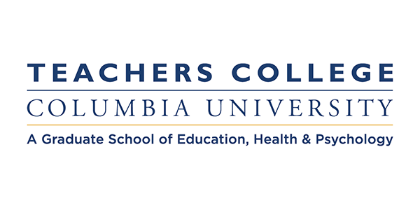Teachers College Columbia University logo white